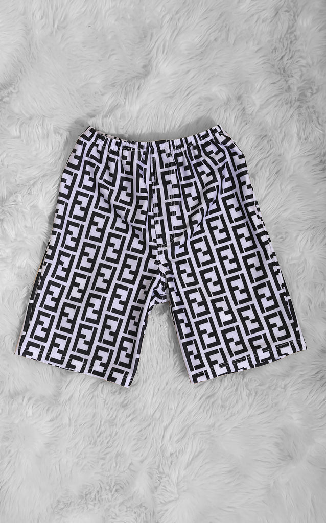 Mini Me Fefe Swimsuit White Trunks