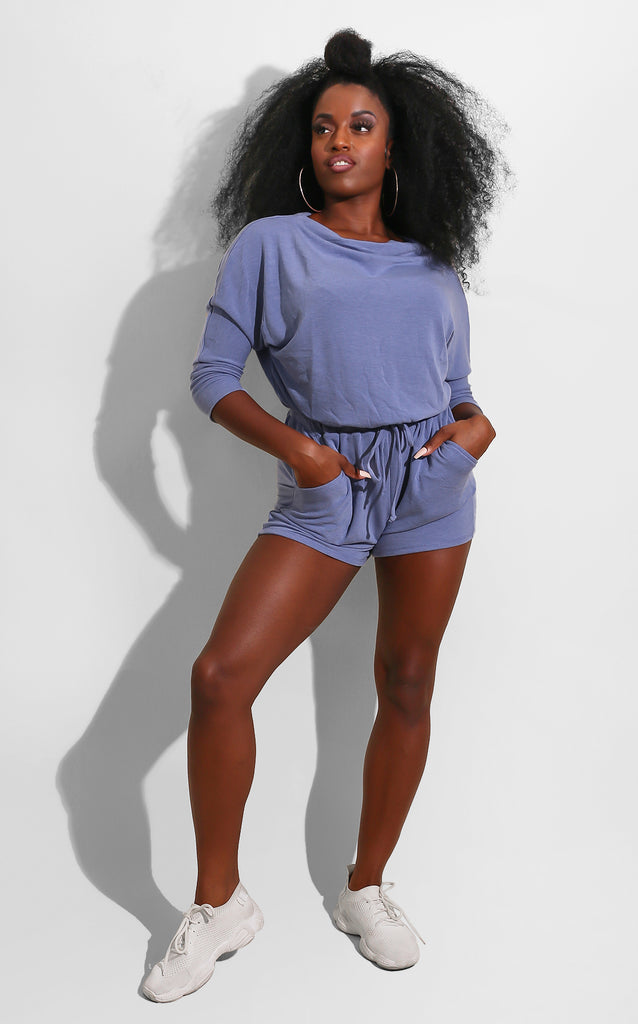Easy Breezy Romper Baby Blue