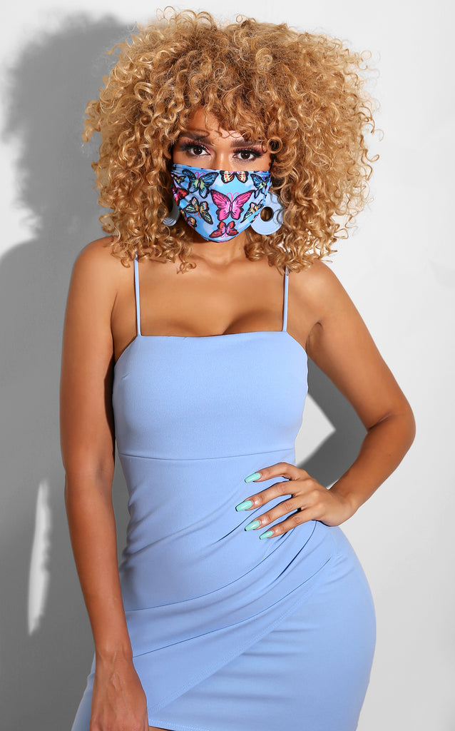 Butterfly Face Mask Blue