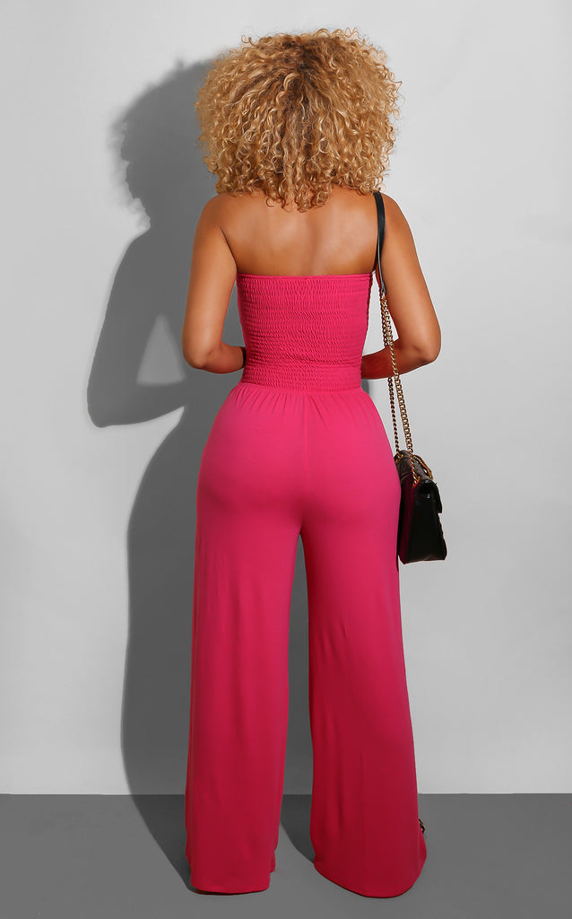 Every Shape Jumpsuit Hot Pink