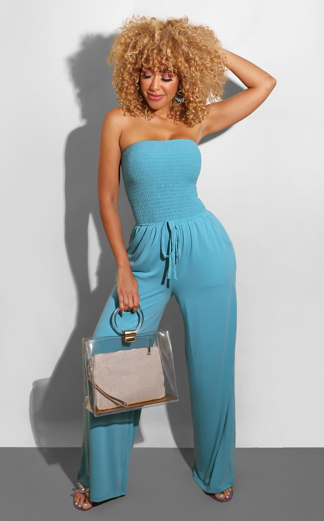 Every Shape Jumpsuit Teal