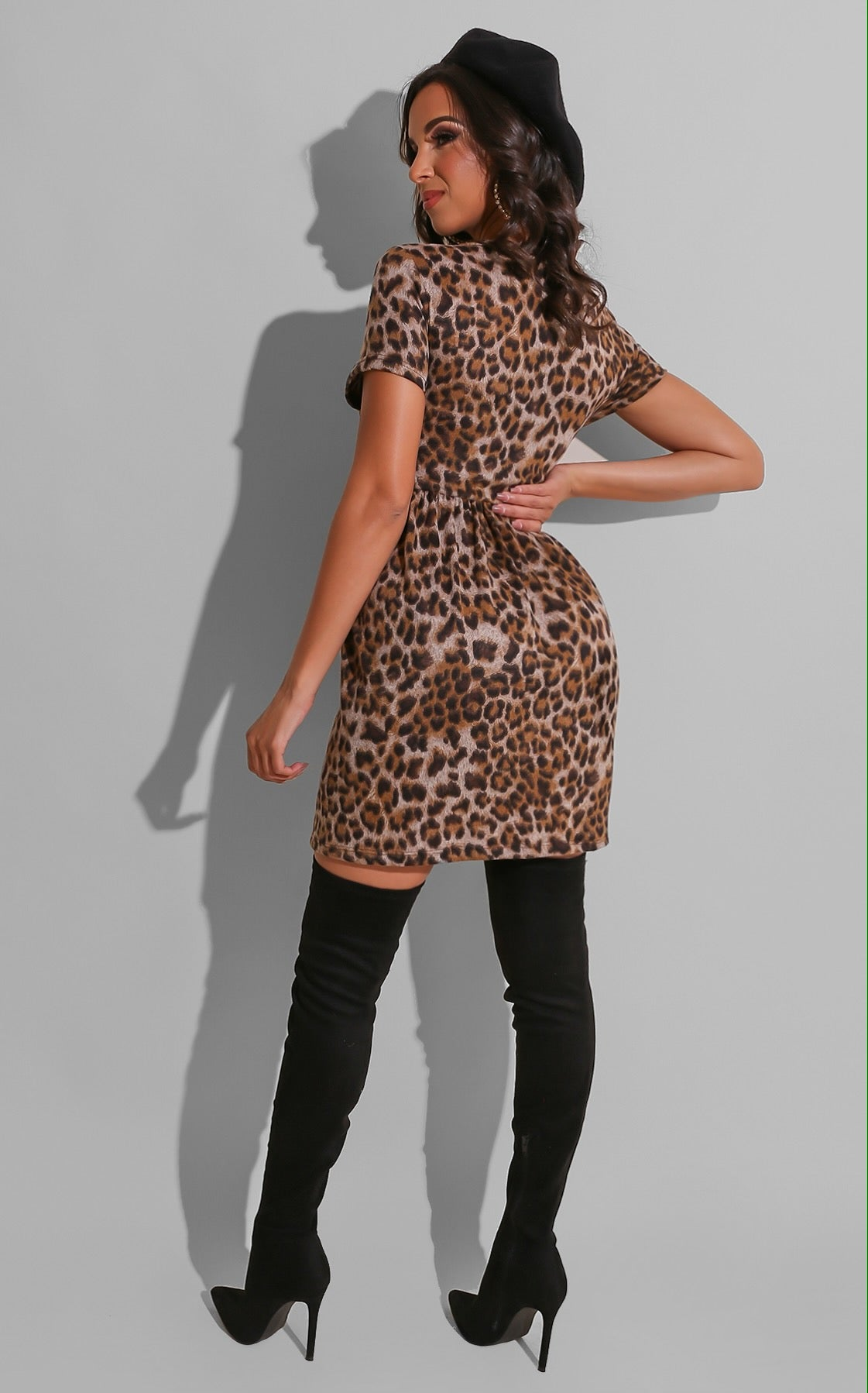 Day Leopard Sweater Dress