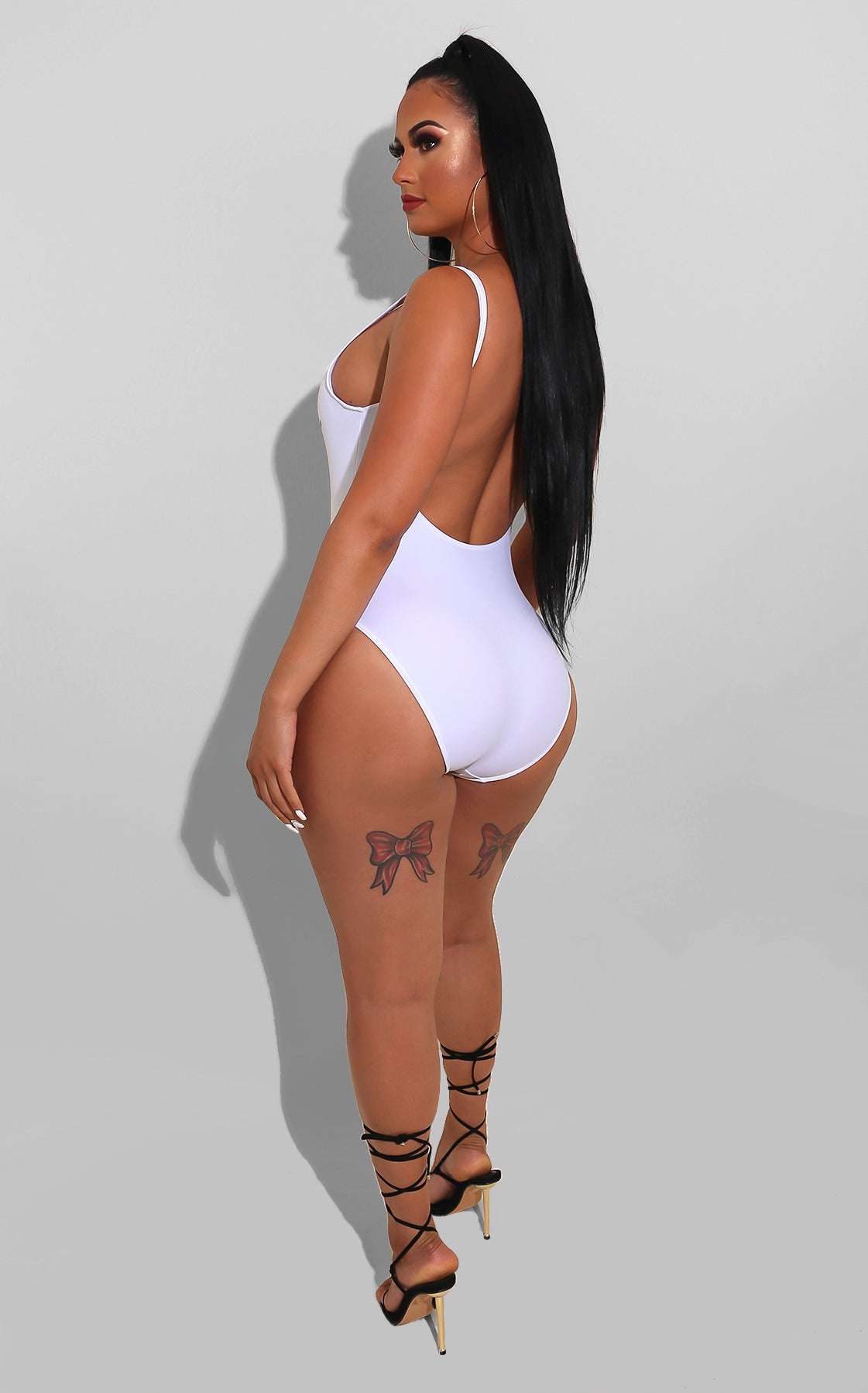 I Love My Ethnicity Swimsuit White