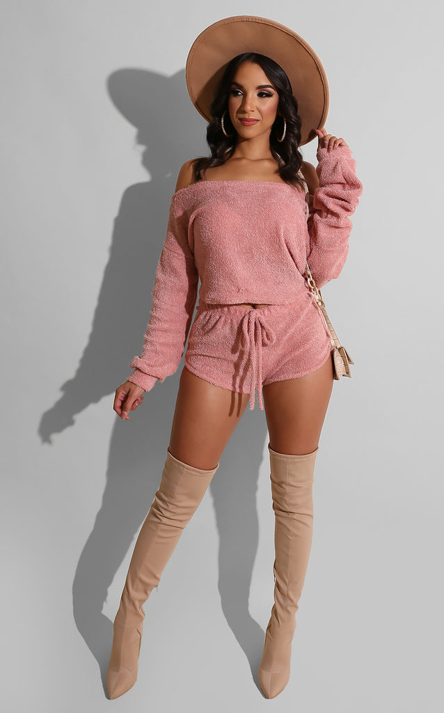 Fall Lounger Short Set Blush