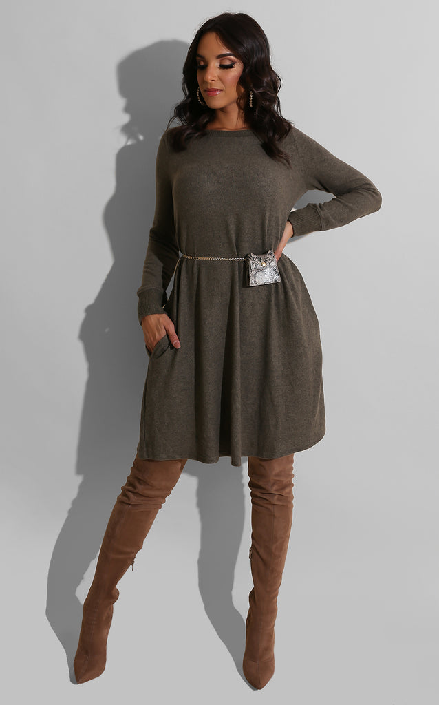 Tones of Fall Sweater Dress