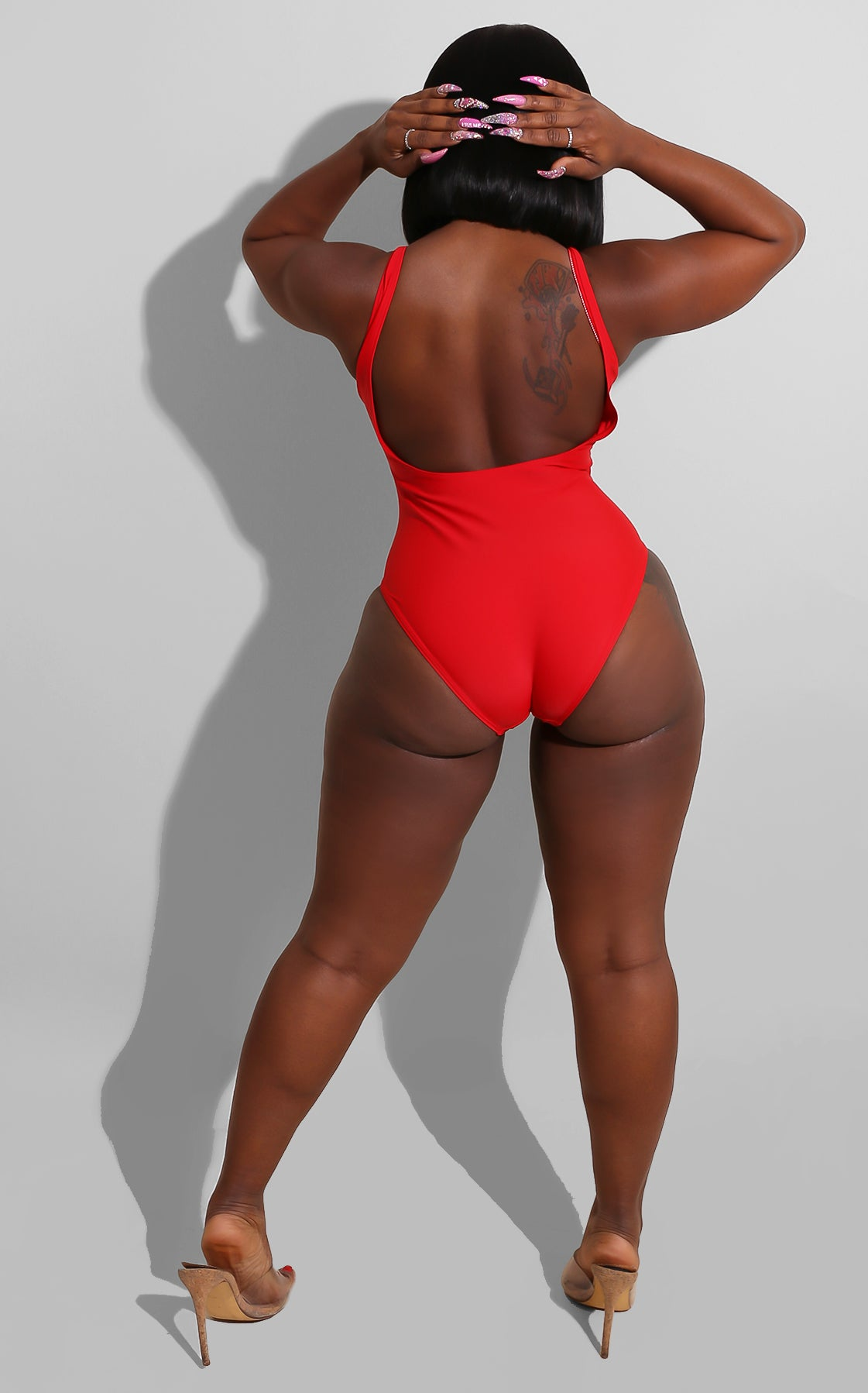 I Love My Ethnicity Swimsuit Red