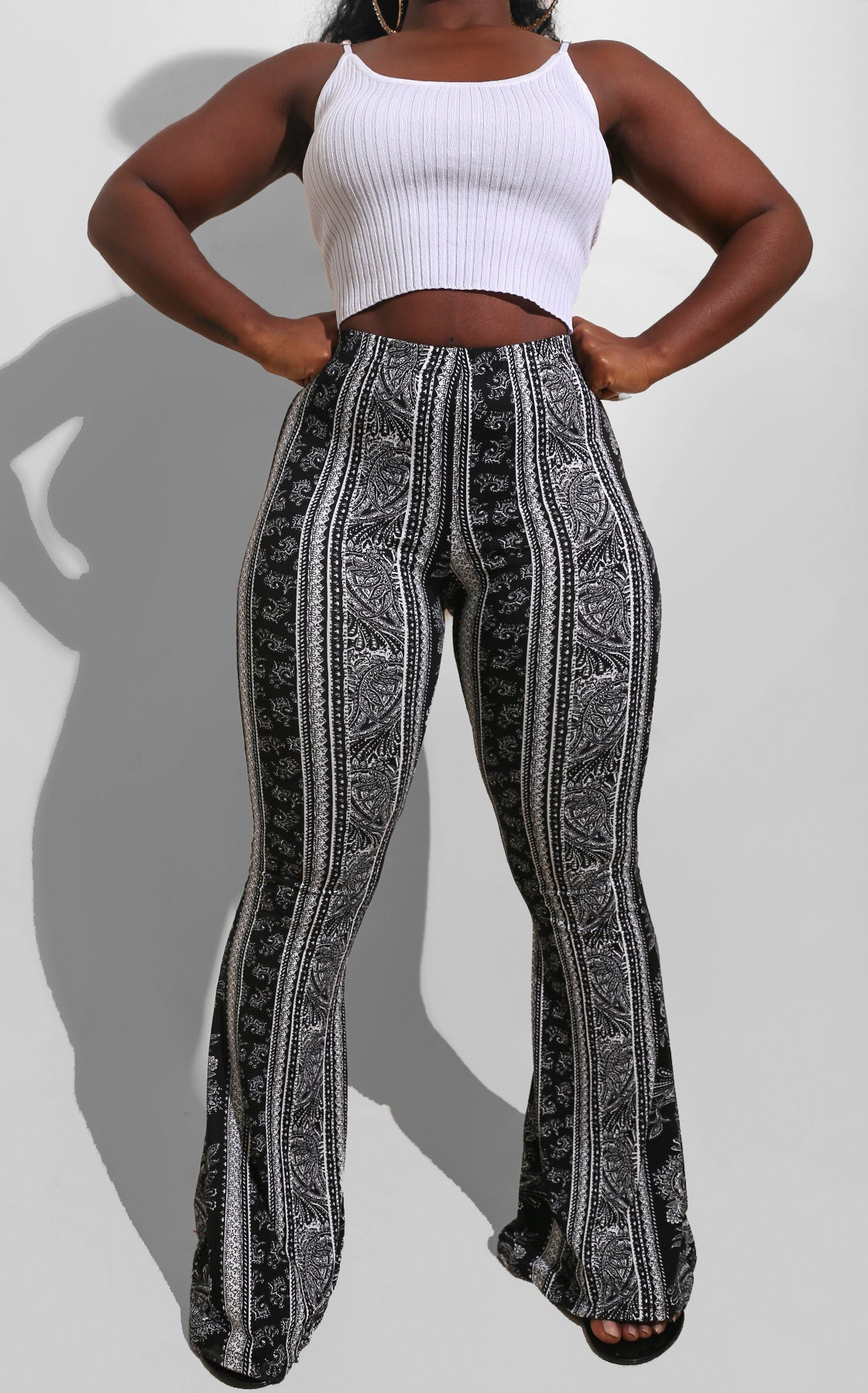 Fall Paisley Bell Bottoms