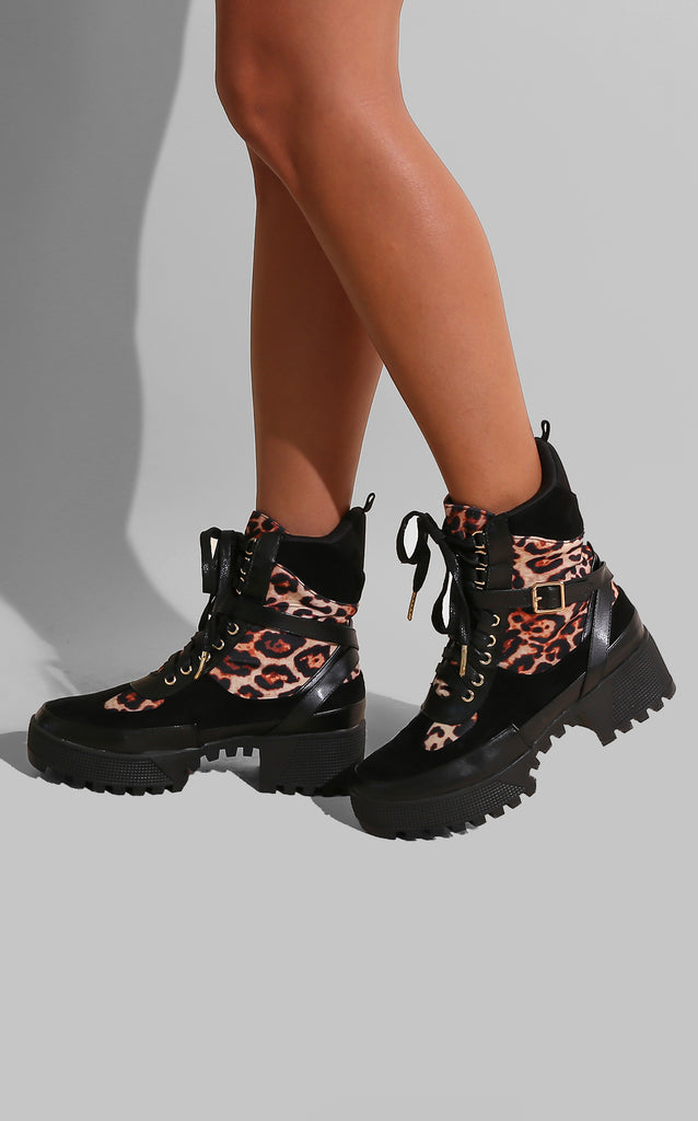 Leopard Flare Boots