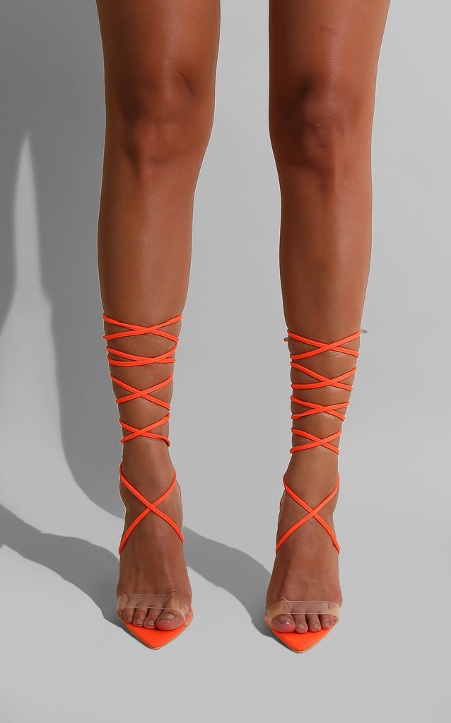 Sklya Strap Heels Orange