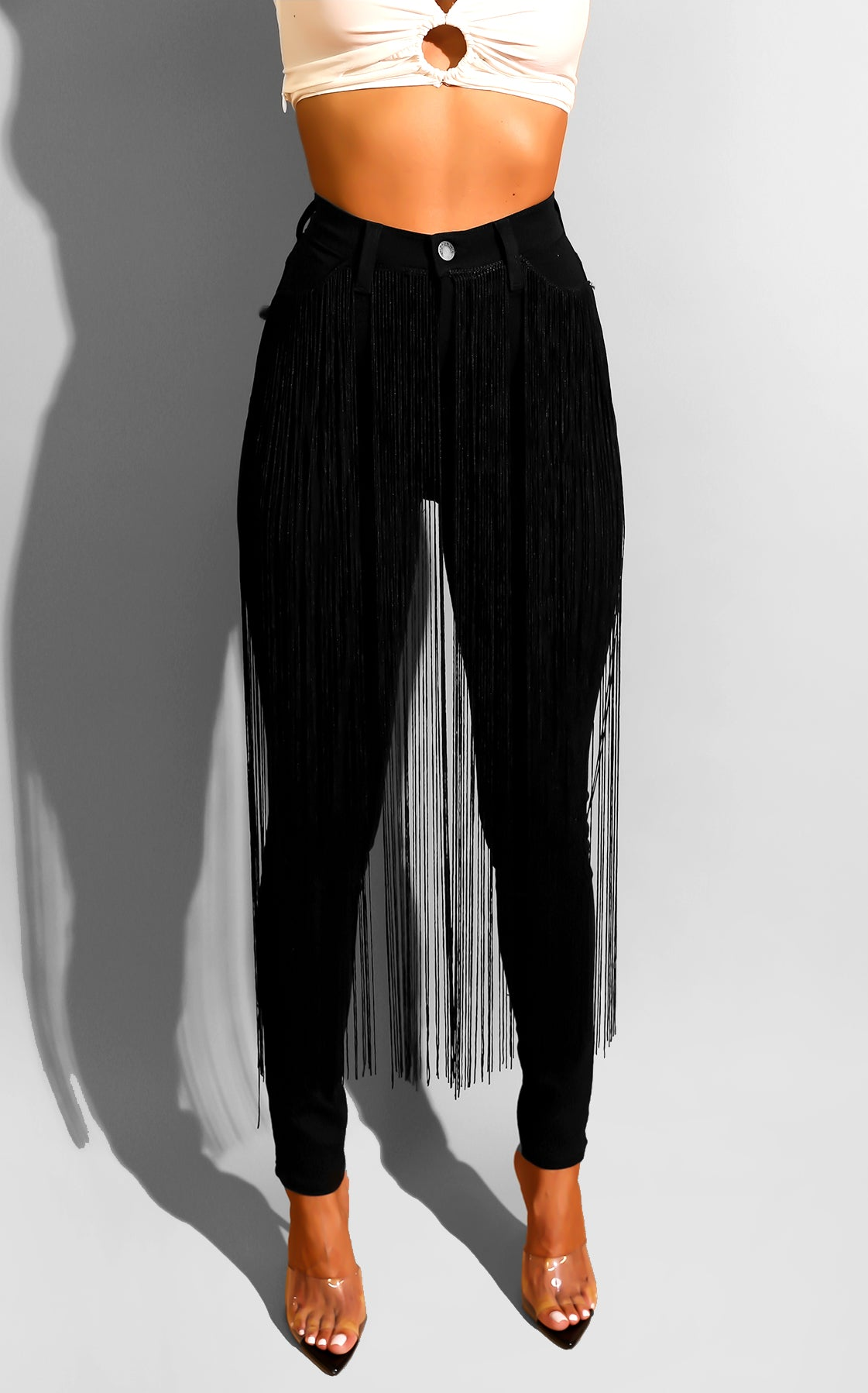 Fringe Doll Denim Black