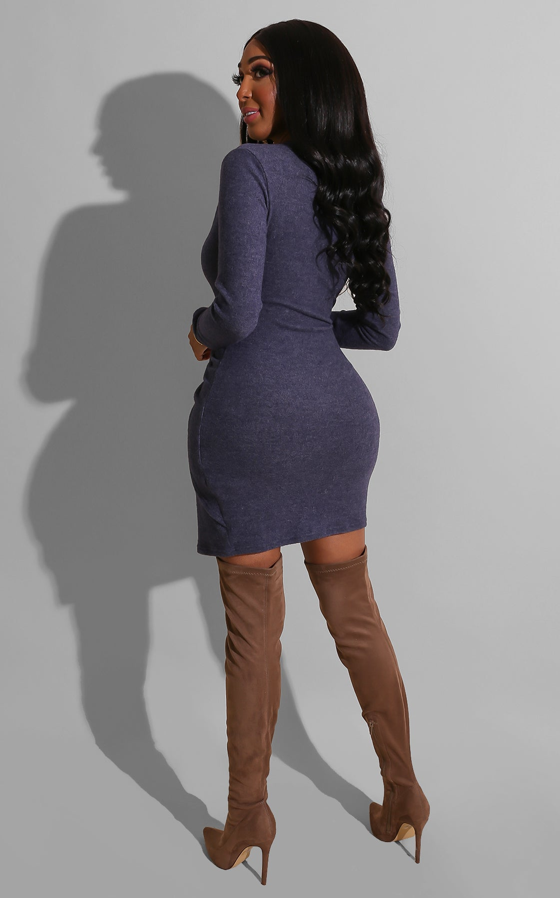 Twisted Sweater Dress