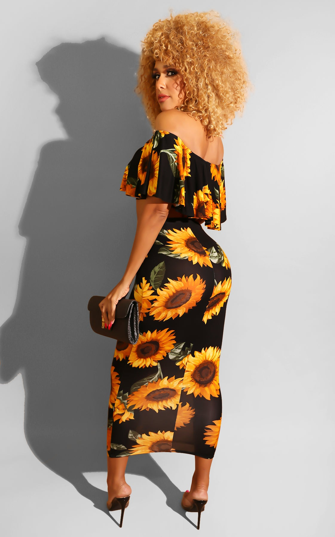 Sunflower Midi Skirt Set