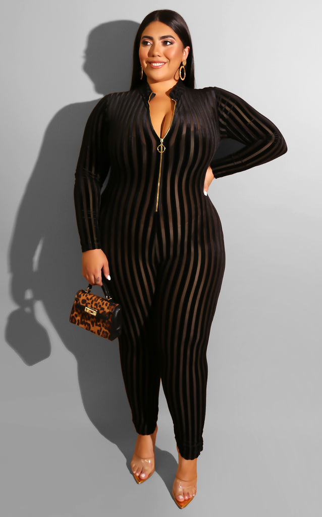 Curvy Exposed Jumpsuit