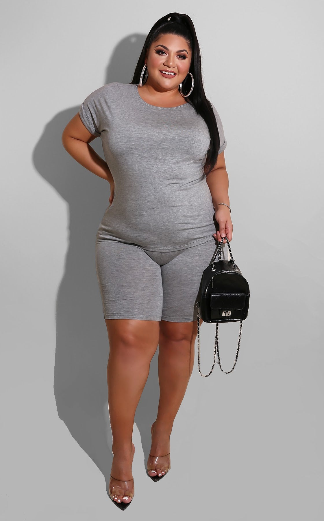 Curvy The Must Short Grey