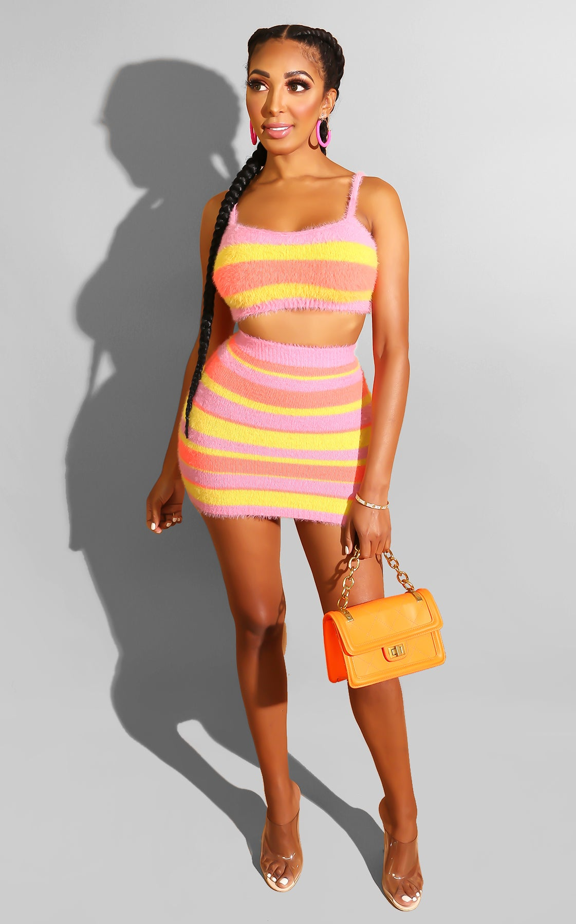 Jada Striped Skirt Set