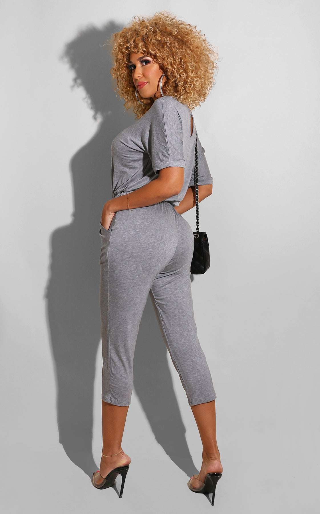 Harlow Casual Jumpsuit Grey
