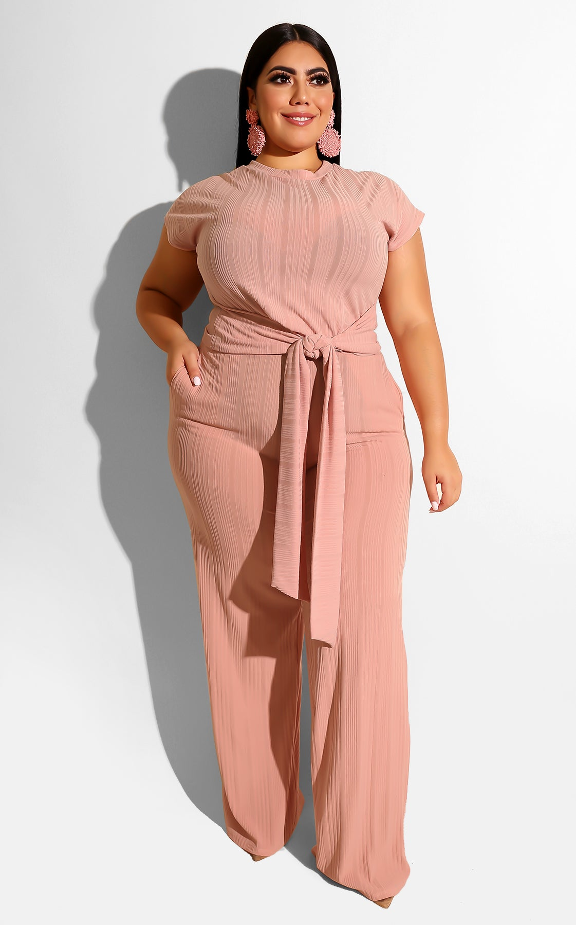 Curvy Love On Top Pant Set