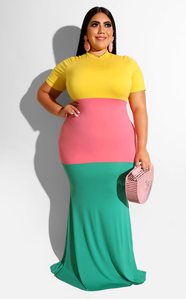 Curvy Summer Block Maxi