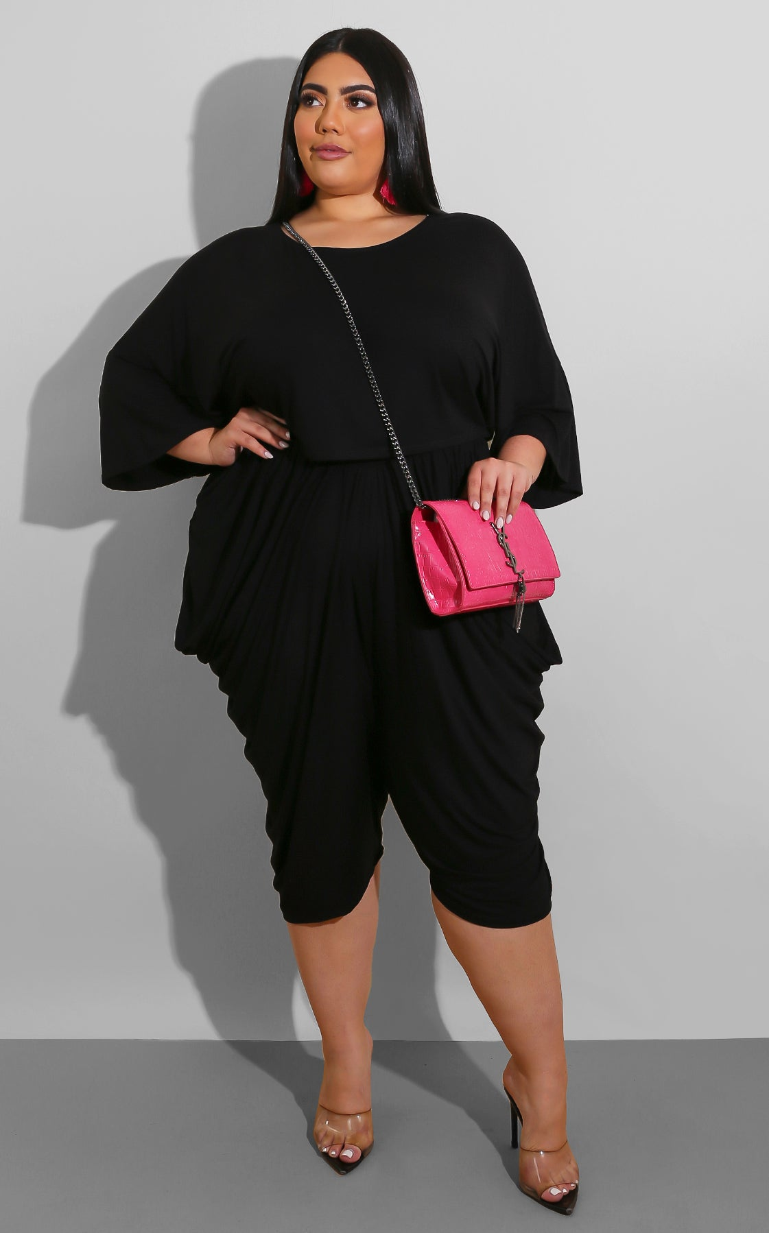 Curvy Easy Breeze Short Set Black