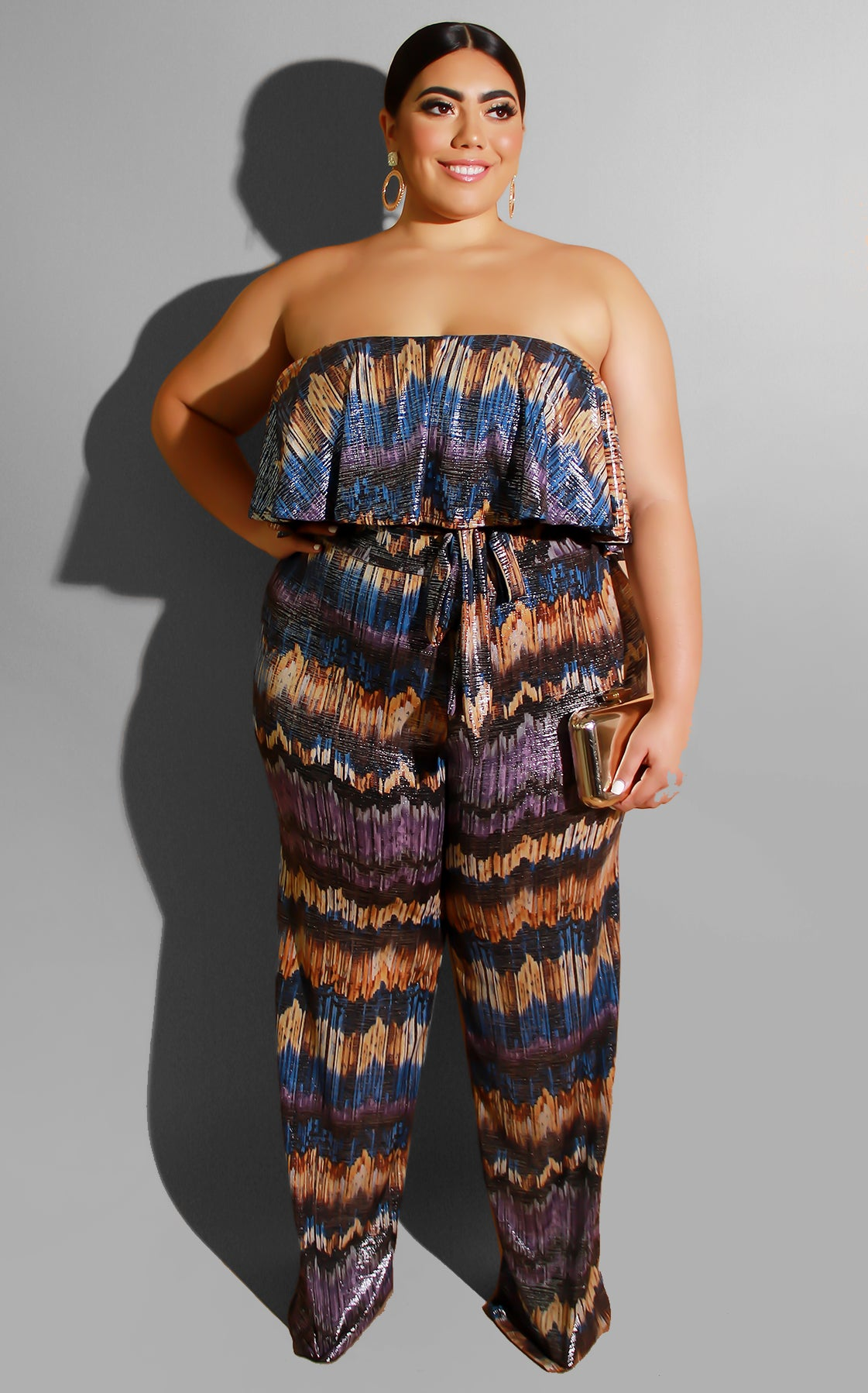 Curvy River Runs Wild Jumpsuit