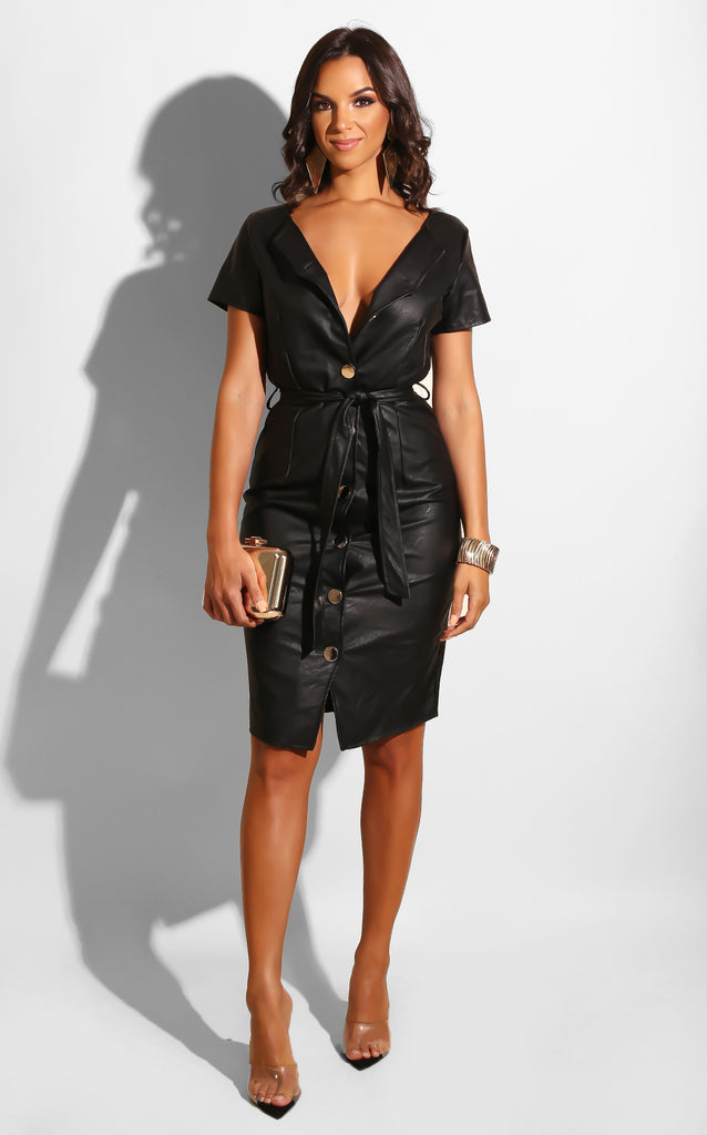 Pleather City Chic Dress
