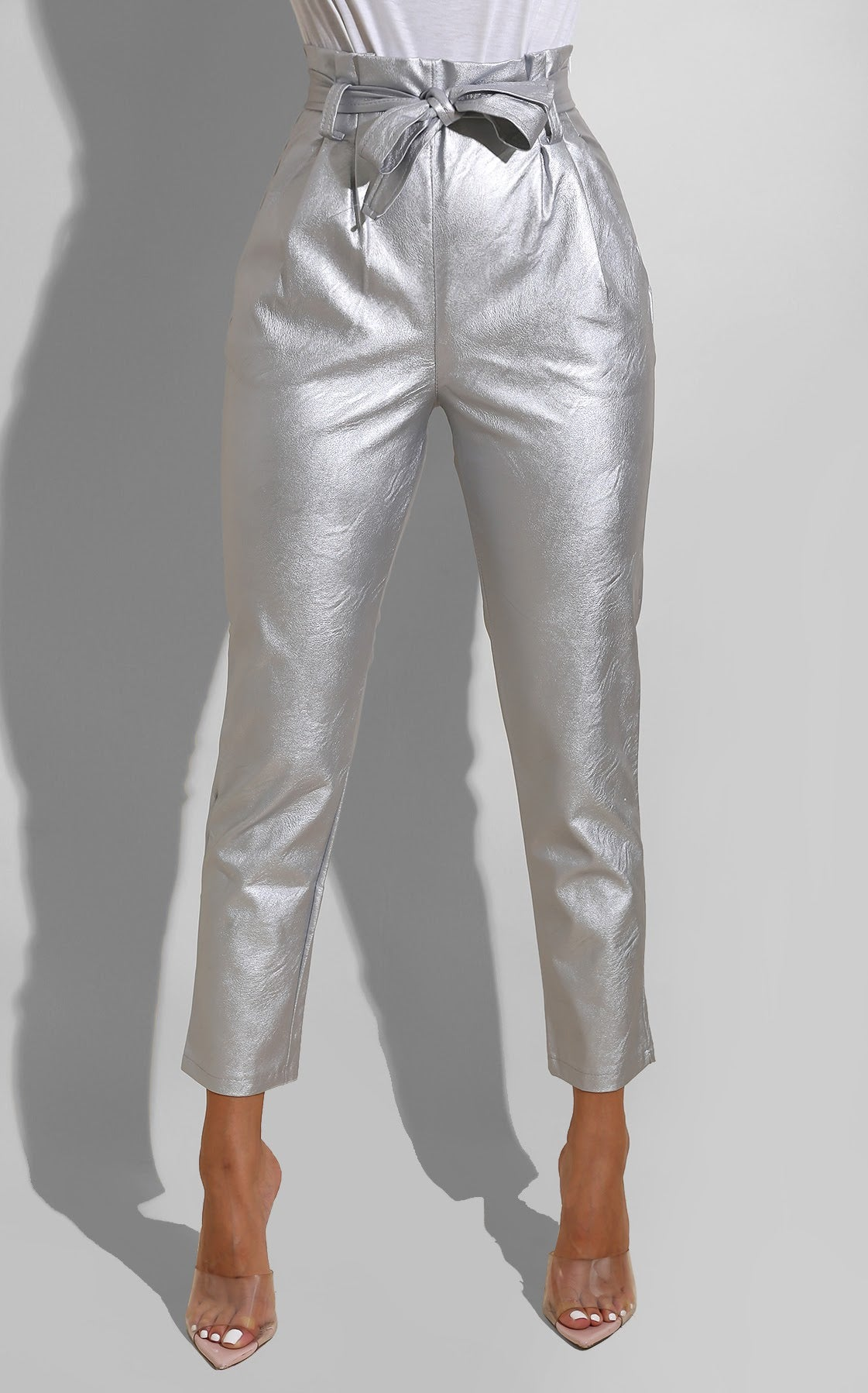 Metallic Pleather Trouser