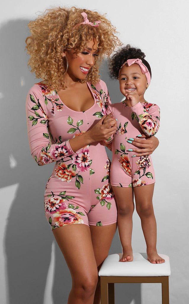Mini Me Sweet Rose Romper