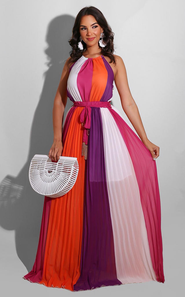 Bonita Spring Maxi Orange Purple