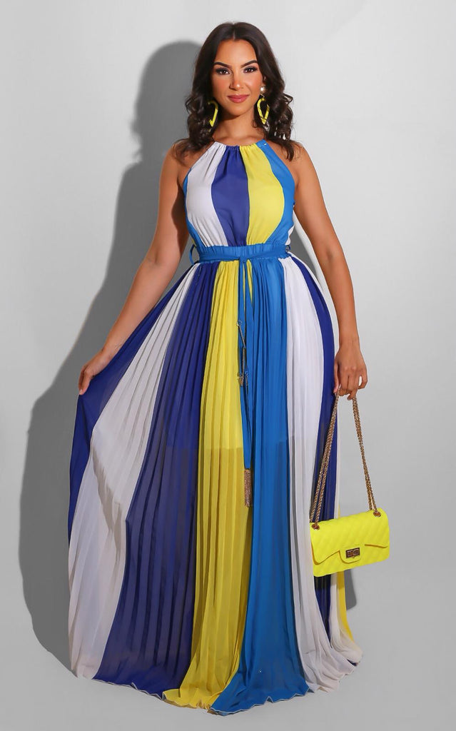 Bonita Spring Maxi Blue Yellow