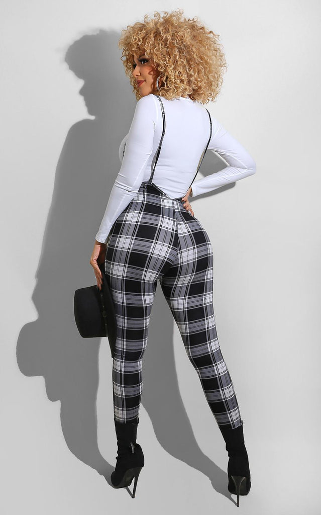 Julissa Plaid Set Black
