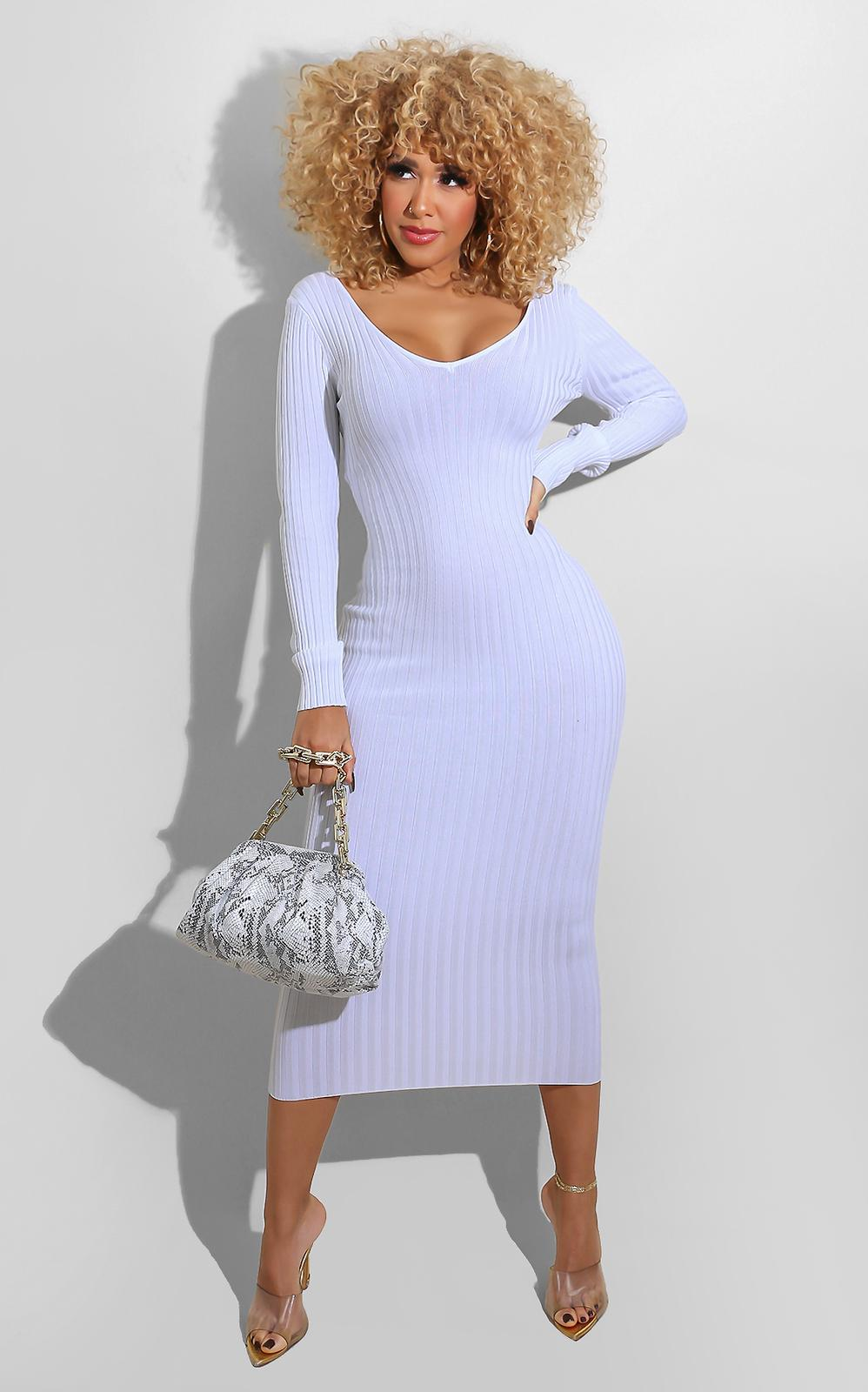 Sweater Essential Dress White