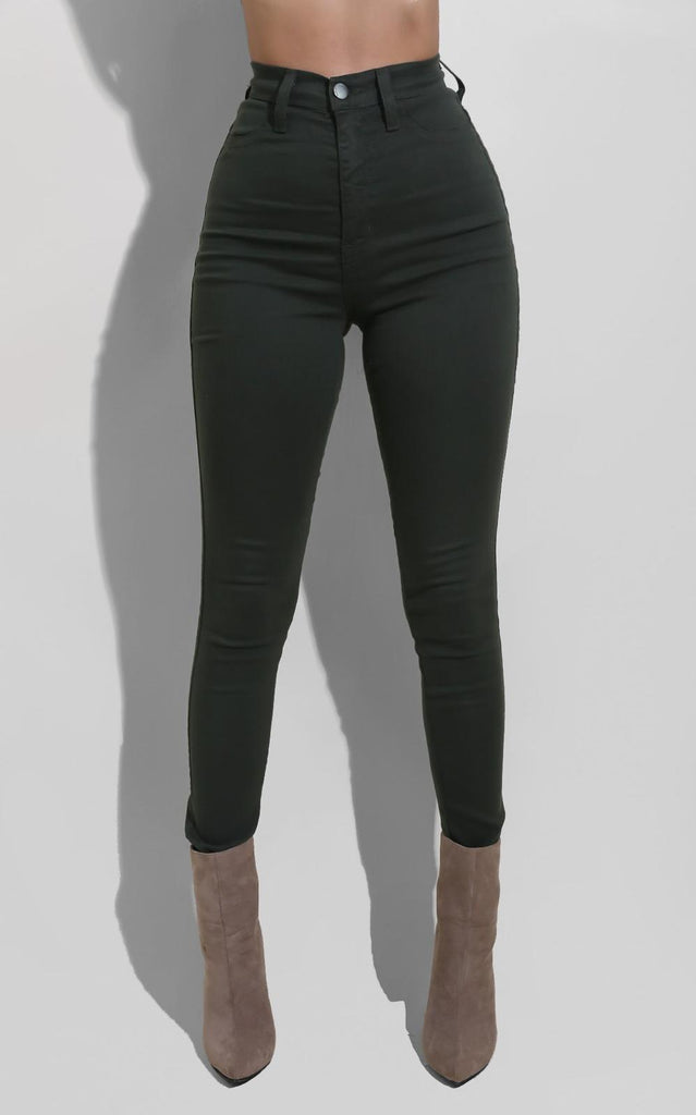 Must have High Waist Jeans Olive