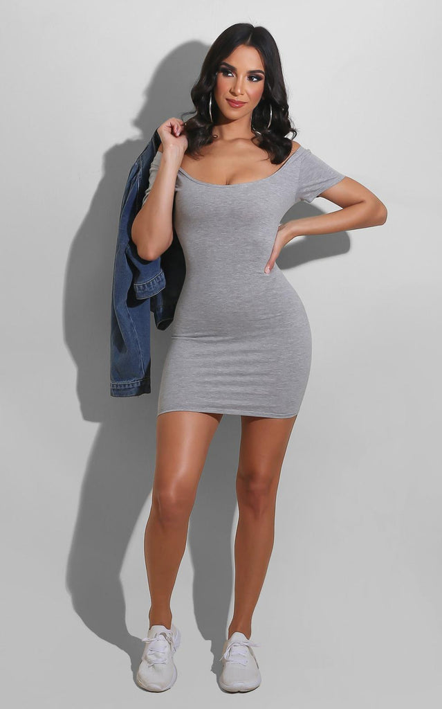 Back to Basics Mini Dress Grey