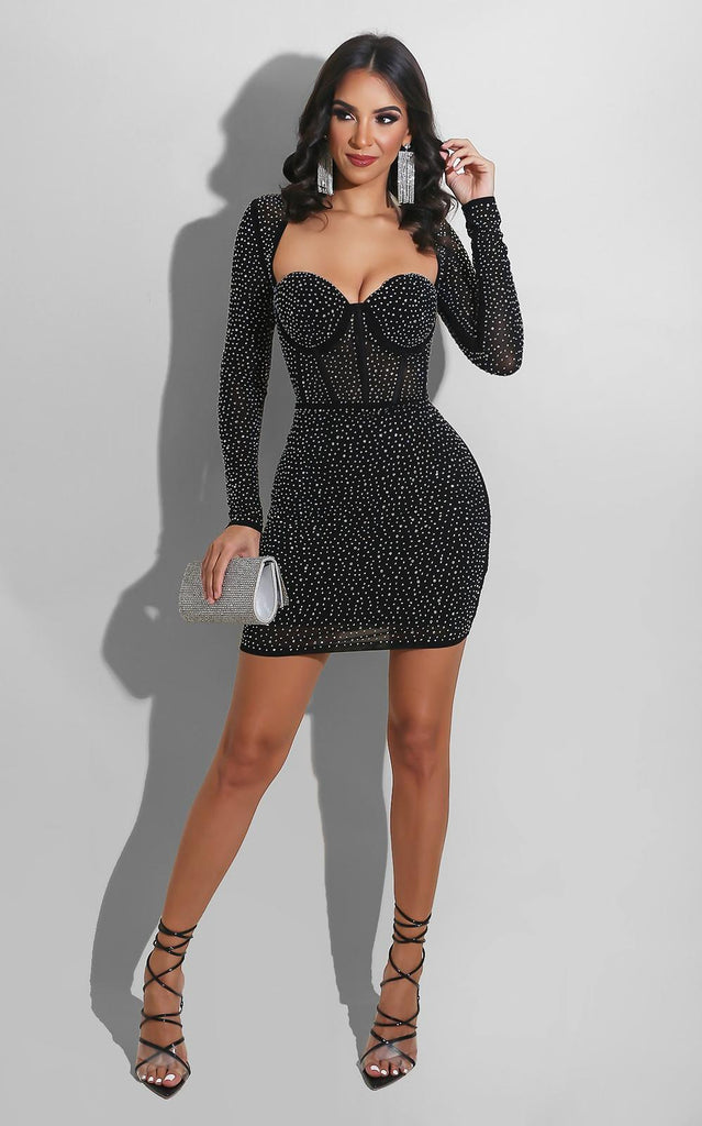 Bling Bustier Mini Dress