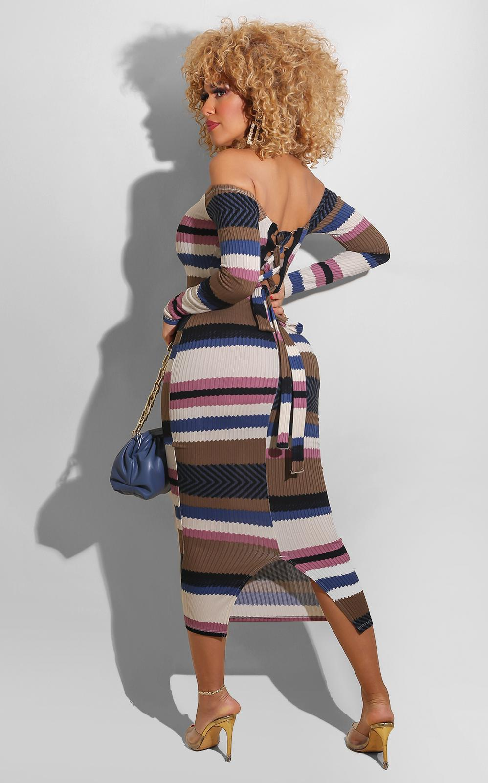 Sweetie Striped Midi