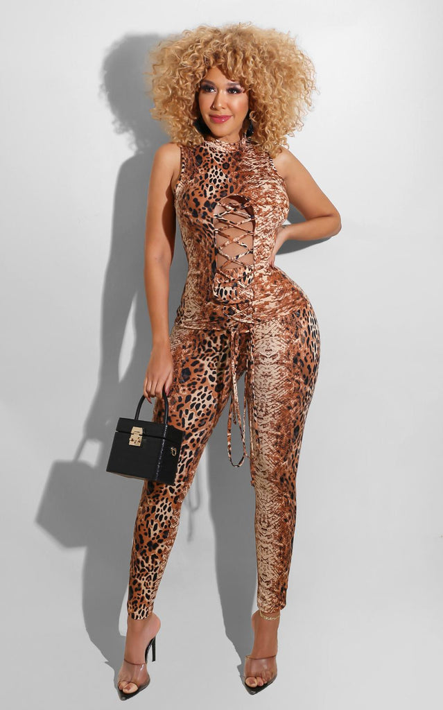 Leopard Rating Pant Set