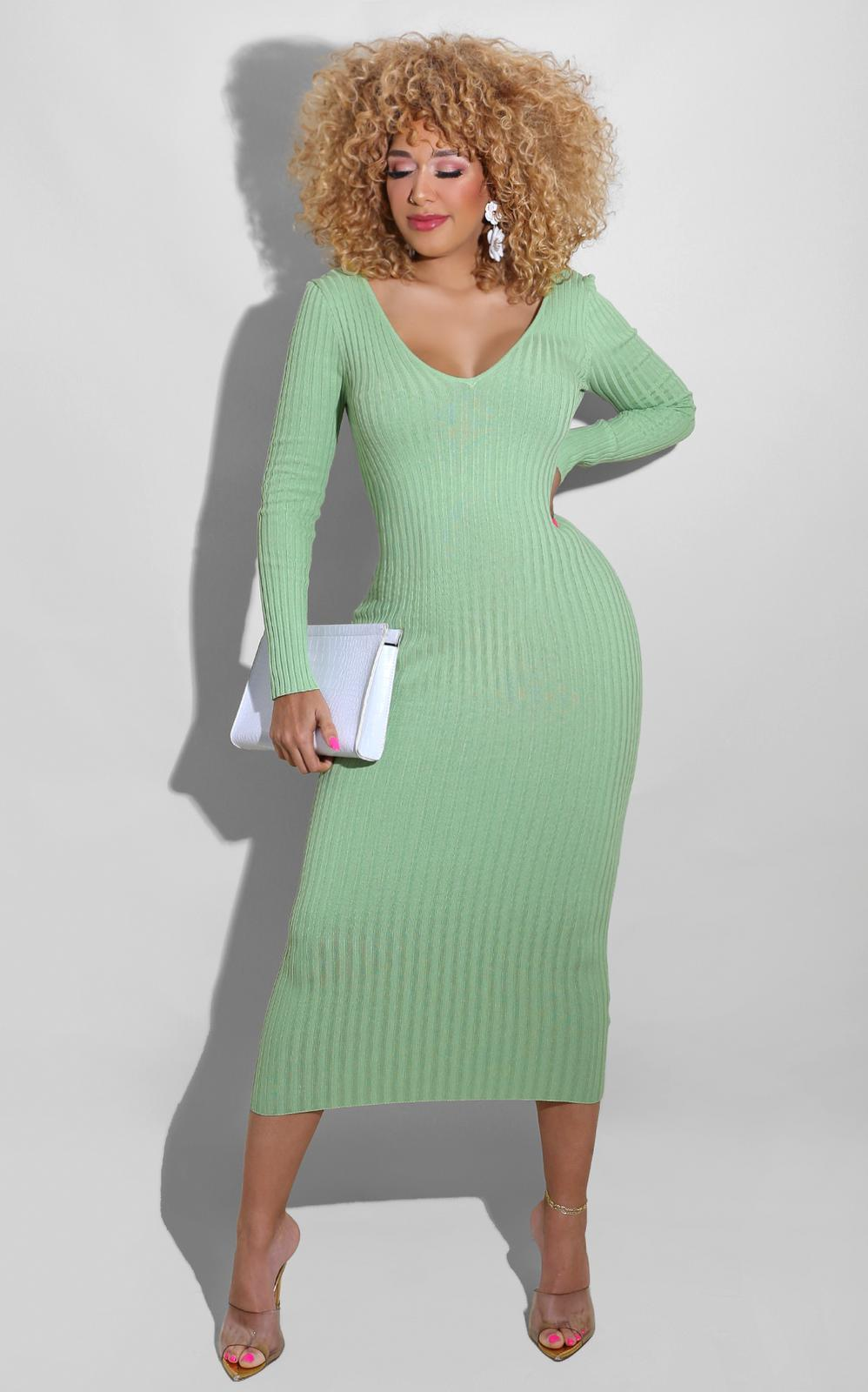 Sweater Essential Dress Sage