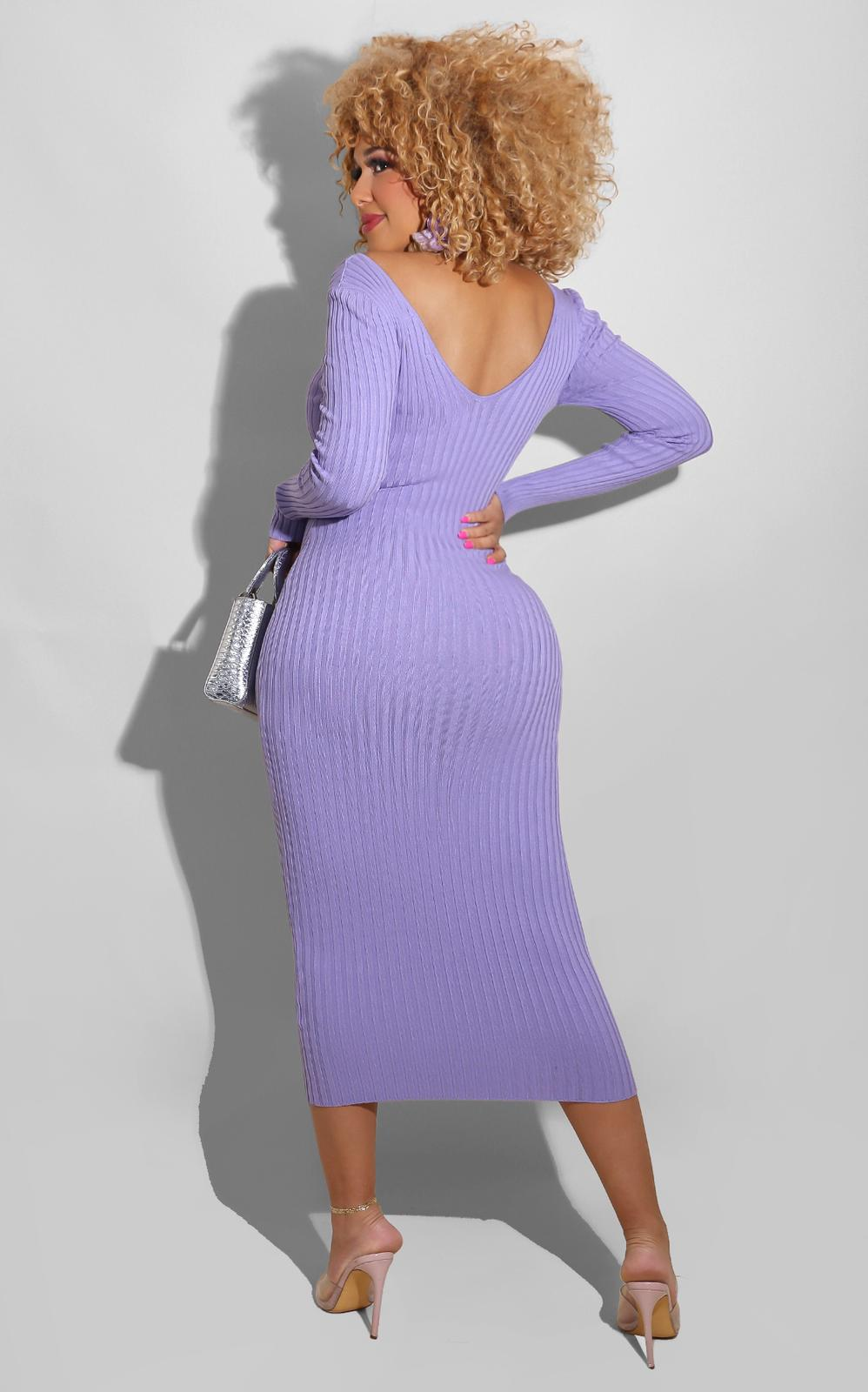Sweater Essential Dress Baby Purple