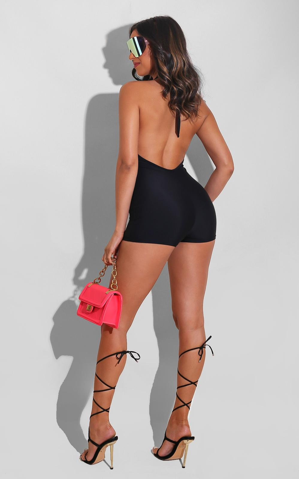 Your Love Is Mine Romper Black