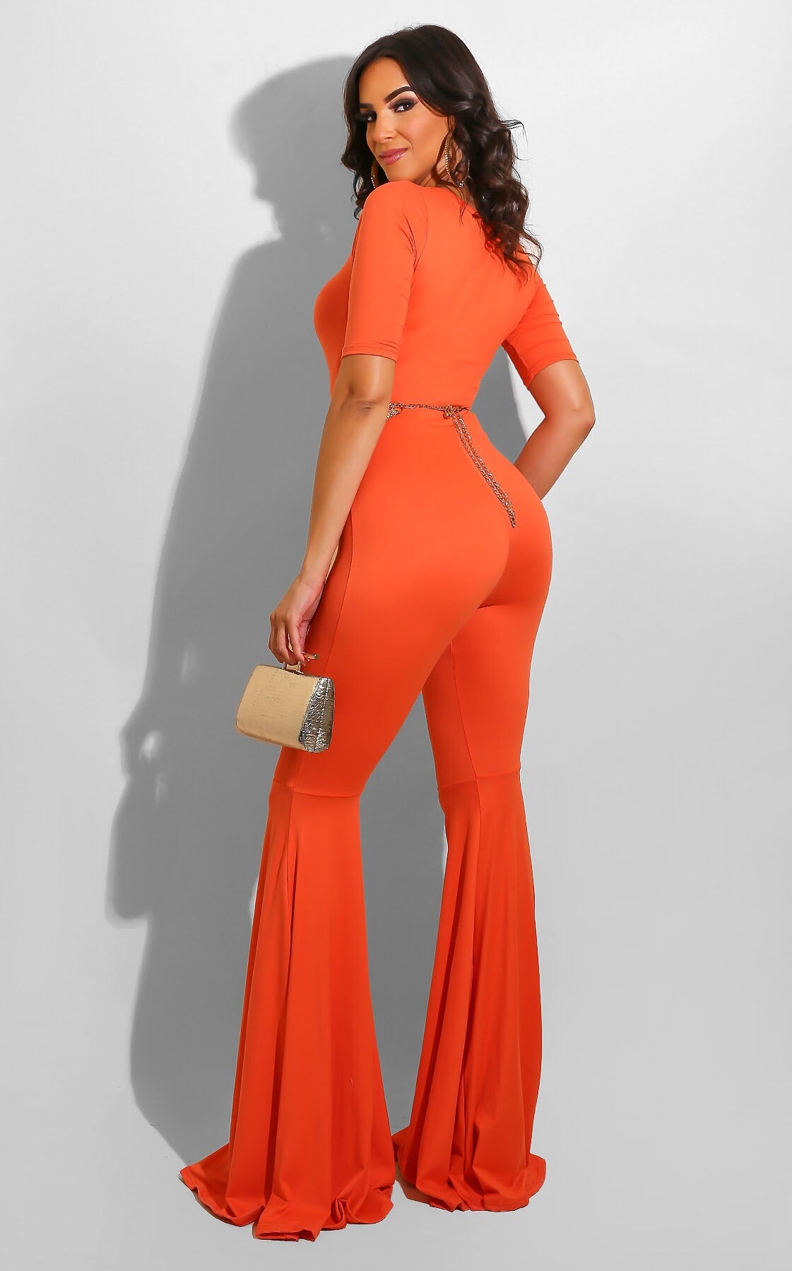 Flirt Session Jumpsuit Orange