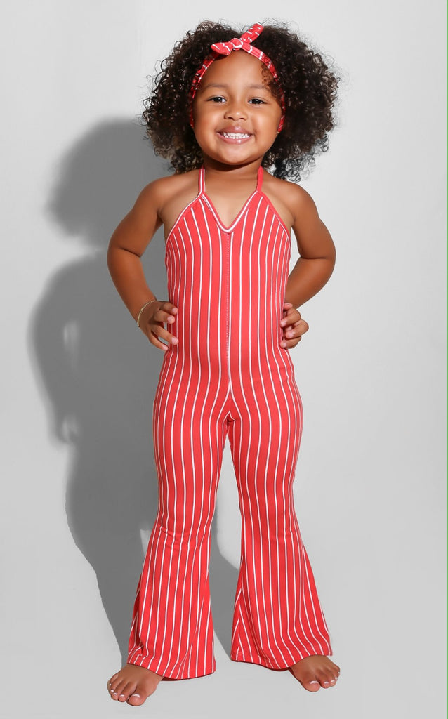 Mini Me Baby Doll Jumpsuit Coral