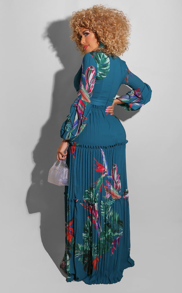 Sweet Lily Maxi Teal