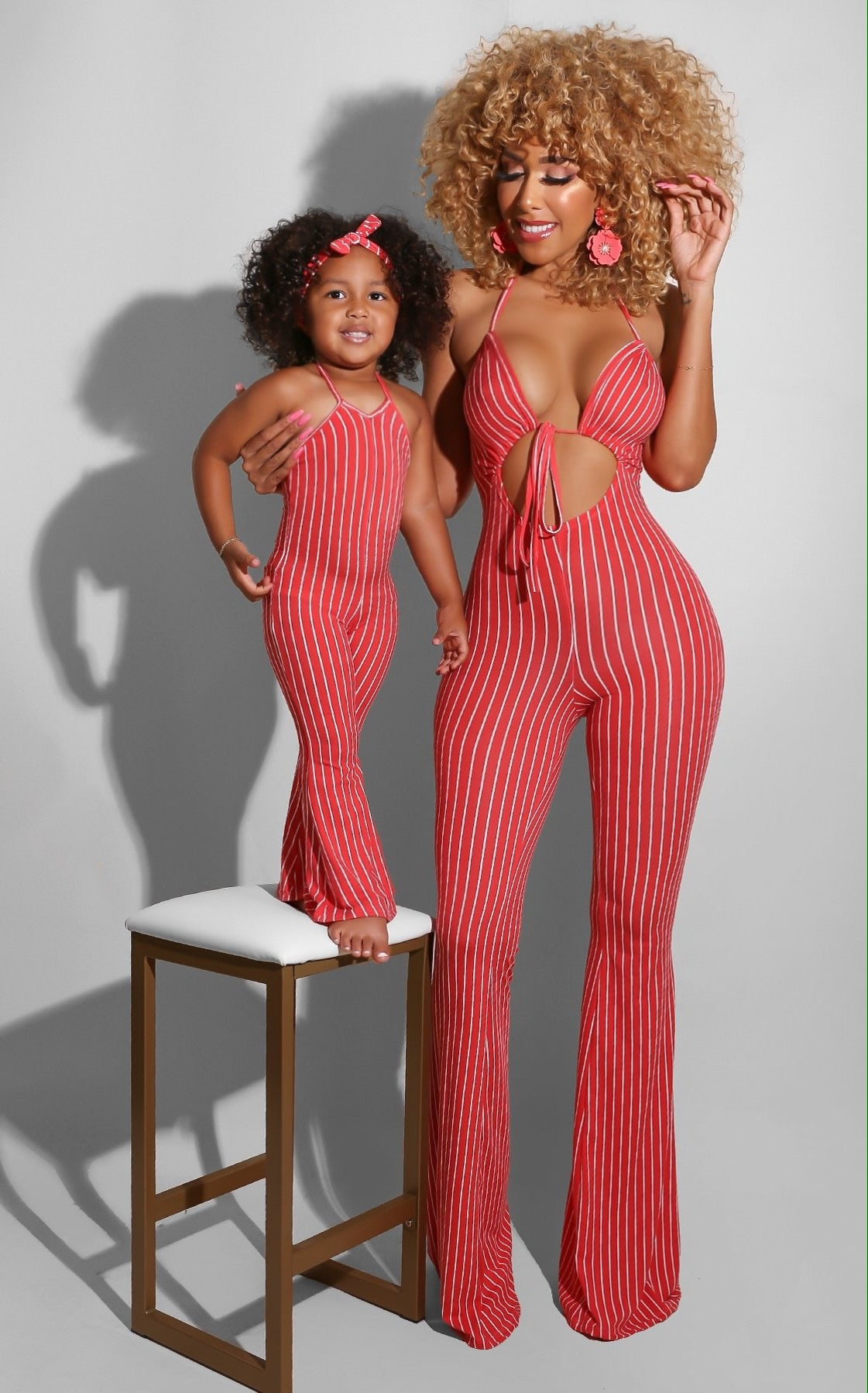Baby Doll Jumpsuit Coral
