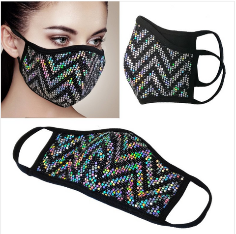 Hologram Sequin Face Masks