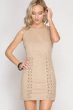 Carrie Corduroy Lace Up Sleeveless Dress