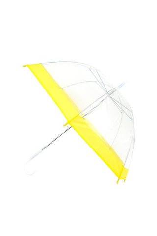 Yellow and Clear Umbrella