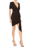 Ina Asymmetrical Black Dress