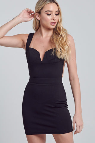 Virginia V-neck Bodycon Dress
