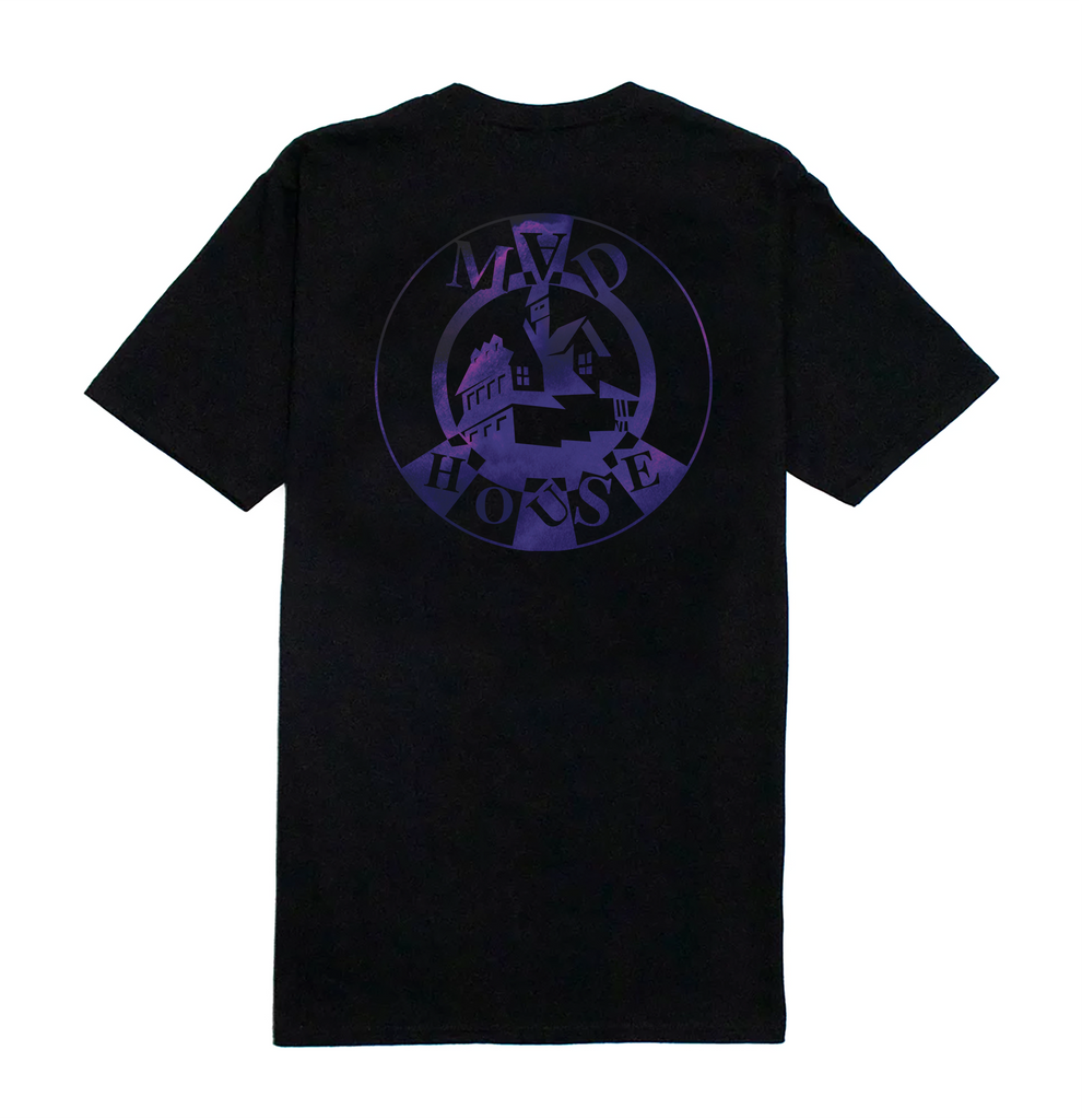 Madhouse Purple Logo Tee - Black
