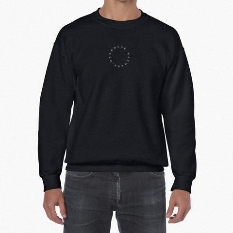 Black Embroidered Sweatshirt *BRAND NEW*